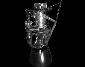 3D model SpaceX Raptor Engine superheavy