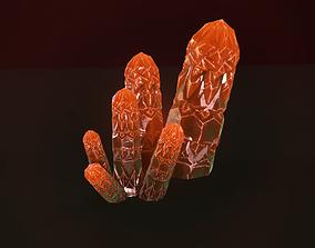 Minreral orange 3D asset game-ready