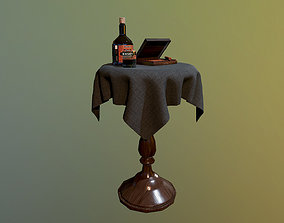 Wiskey Table Game Ready 3D model