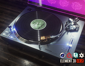 Technics Turntable Vinyl Record Player 3D
