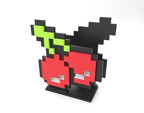Cherry pixel napkin holder 3D print model