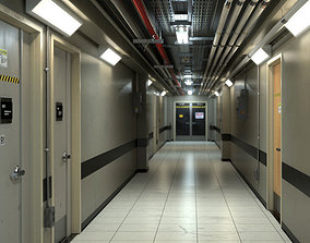 3D model Industrial Hallway