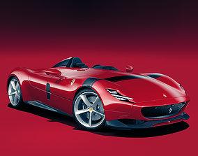 supercar Ferrari Monza SP1 3D