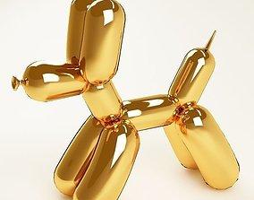 3D asset Balloon dog 04 gold