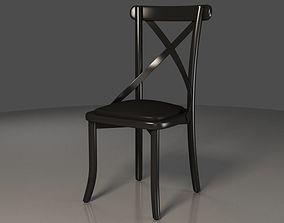 3D Black X backrest Coffee Chair