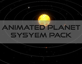 3D model Animated Planet Pack