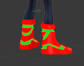 Rocket boots Sci Fi Low Poly 3D model