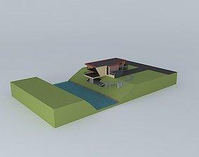NEG House near river exterior design 3D model