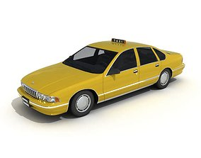 Yellow Car Taxi 3D