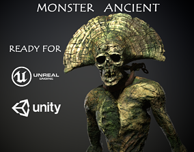Monster Ancient 3D asset animated