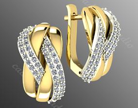 jewellery earrings od 4 3D printable model