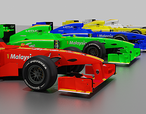 F1 Formula Cars Pack 3D asset