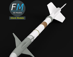 AIM-9M Sidewinder missile 3D model