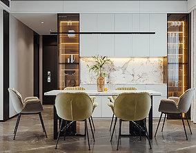Modern luxury restaurant 3D print model