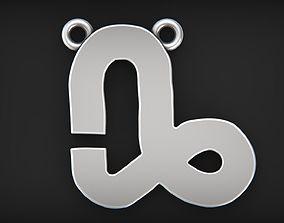 3D print model Simple Capricorn zodiac pendant