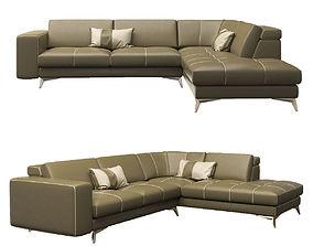 3D model Gamma Charles Corner Sofa