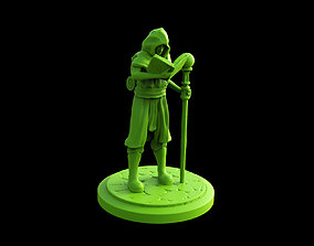 3d Printable Wizard Apprentice Miniature