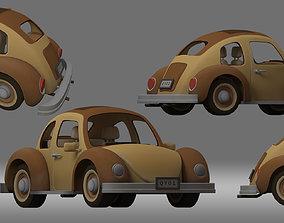 3D cartoon car vehicle sedan