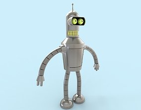 Bender low-poly 3D asset
