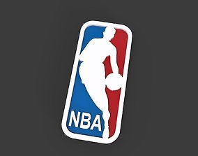 NBA logo 3D printable model