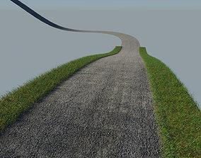 Tileable Gravel Driveway 3D model