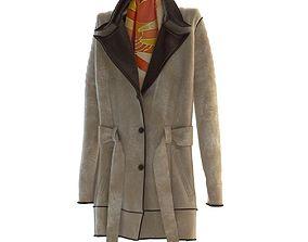 3D model leather coat