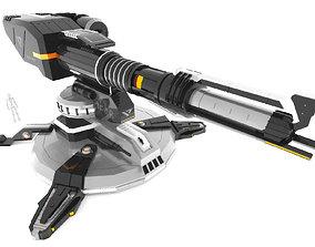 Sci-Fi Turret F48 3D