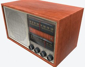 3D asset Vintage Radio Low Poly