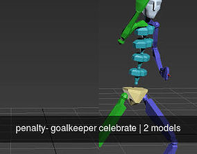 penalty- goalkeeper celebrate 3D