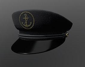 3D asset Captain hat PBR