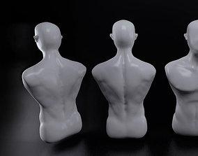 3D print model Male human torso statue