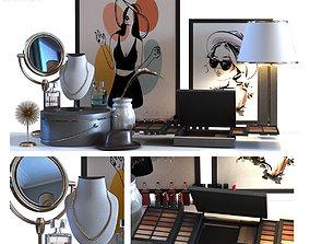 Cosmetics set 016 lowpoly 3D model