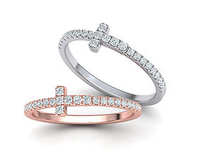 T-ring French Pave Setting ring 3dmodel