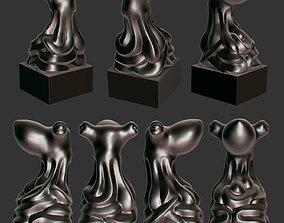 Octopus statuette 3D print model