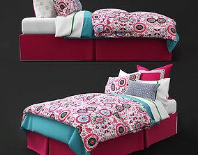 3D model Bedclothes kids pink
