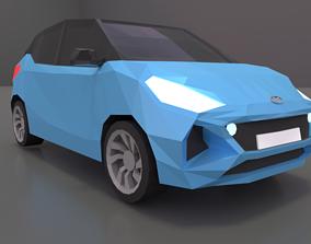 Hyundai i10 2020 lowpoly 3d model 3D low-poly