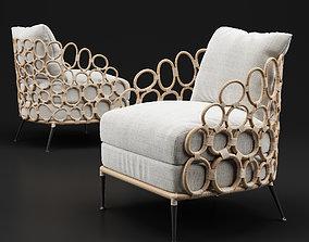 Palecek Ella Lounge Chair 3D model