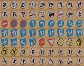 Set of signs 3D model