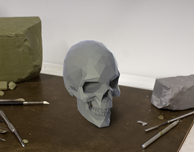 Low Poly 3D SKULL