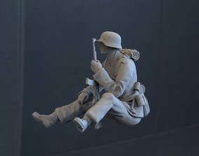 3D printable model German soldier rifle