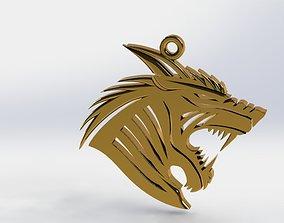 ALPHA WOLF PENDANT 3D printable model