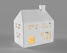 3D model White ceramic house 2