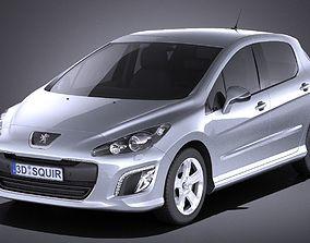 3D Peugeot 308 hatchback 5door 2013 VRAY