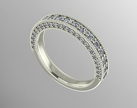 milgrain diamond band 3D print model