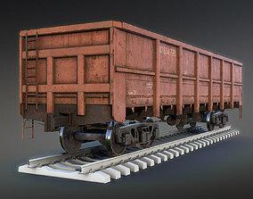 Railroad Open Wagon 3D asset