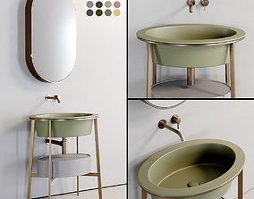 Ceramica Cielo Catino Ovale Washbasin set 2 3D asset