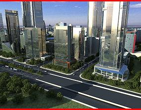 3D Modern City Animated 020