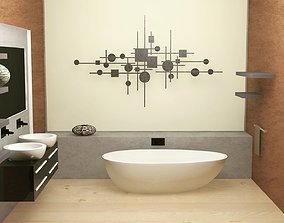 Interior Design Bathrom 3D model