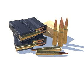 50BMG Ammo Pack 3D model