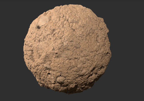 Muddy stone wall pbr tetxure